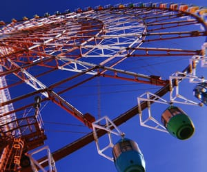 ferris wheel, movie, and photography image