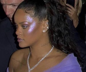 rihanna, highlight, and makeup image