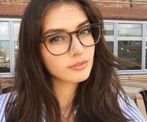 beauty, jessica clements, and glasses image