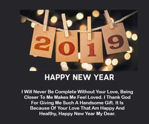 happy new year, wishes, and 2019 image