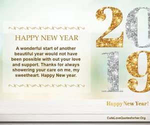 greeting, love, and new year image