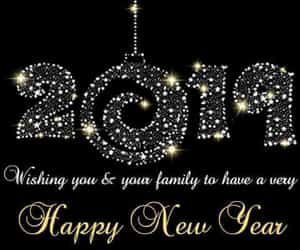greeting, new year, and happy new year 2019 image