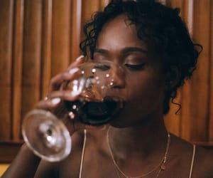 girl, wine, and beautiful image