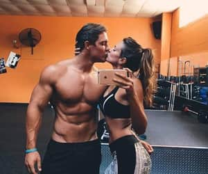 fitness, couple, and goals image