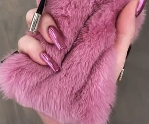 fur, luxury, and pink nails image