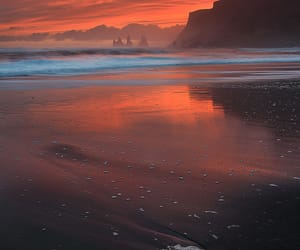 beach, sunset, and colorful skies image