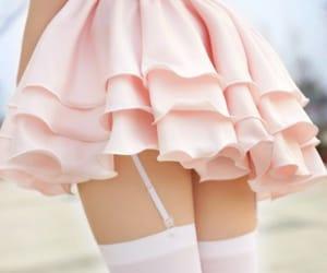 pink, dress, and kawaii image