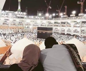 islam, couple, and hijab image