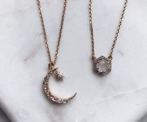 necklace, fashion, and moon image
