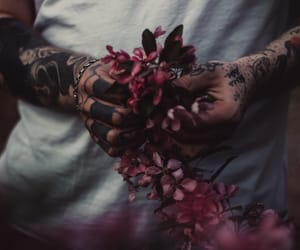 flowers, grunge, and guy image