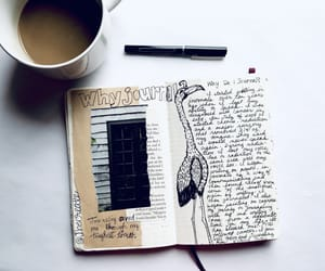art, diary, and journaling image