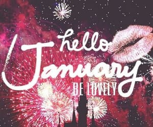 fireworks, january, and hello image