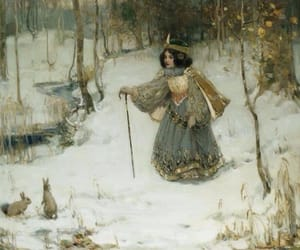 artist, painting, and the snow queen image