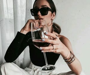 fashion, wine, and style image