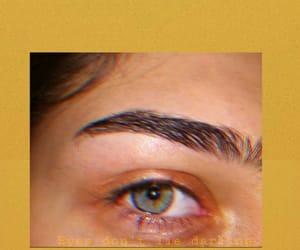 eye, tears, and yellow image