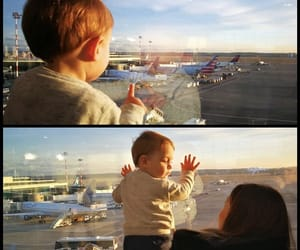 airplanes, travel, and cute image