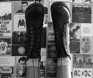 black and white, shoes, and photography image