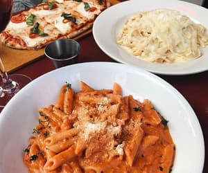 food, pasta, and pizza image