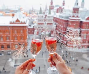 champagne, city, and Dream image