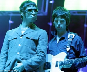 liam gallagher, noel gallagher, and oasis image