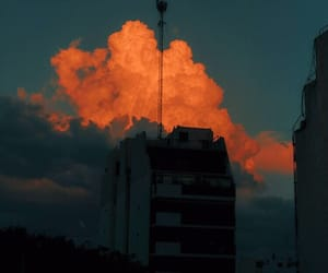 aesthetic, clouds, and orange image