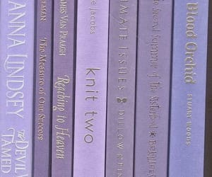 purple, aesthetic, and book image