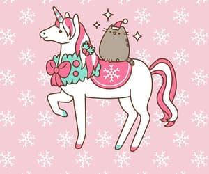 christmas, pusheen, and pusheen cat image