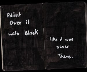 black, quotes, and paint image