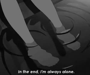 alone, black and white, and gif image