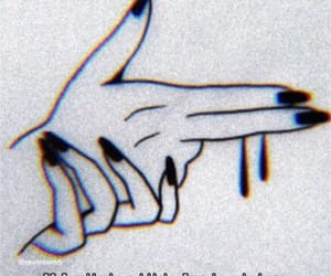 gun, nails, and hands image