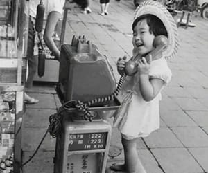 asian, hello, and black and white image