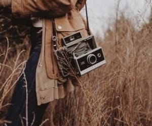 aesthetic, brown, and camera image