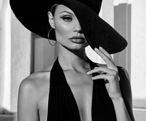black & white, Magdalena Frackowiak, and model image