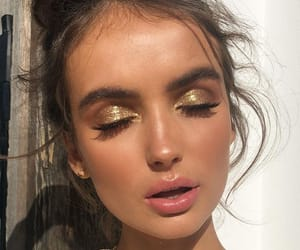article, beauty, and brown eyes image