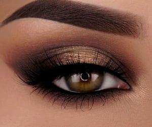make up, eye, and green eyes image