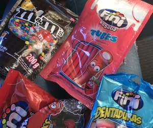 food, m&m's, and fini image