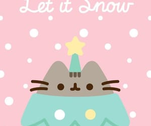wallpaper, christmas, and pusheen image
