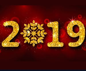bye, gold, and new year image