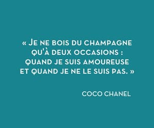 champagne, coco chanel, and fall in love image