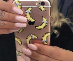nails, banana, and case image