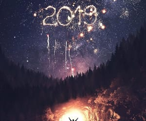 christmas, fireworks, and 2019 image