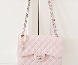bag, pink, and chanel image