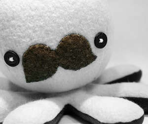 cute, octopus, and mustache image
