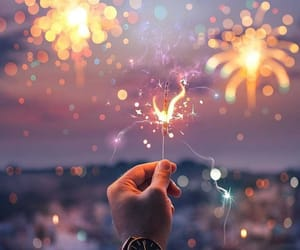 amazing, sparklers, and 2018 image