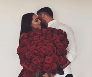 Relationship, couple, and flowers image