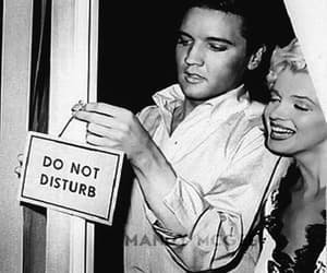 Marilyn Monroe, Elvis Presley, and black and white image