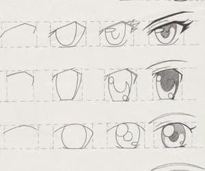 anime, draw, and eyes image
