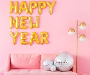 pink, happy new year, and 2019 image