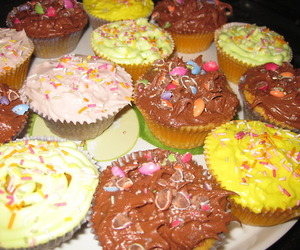 colors, colourful, and cupcakes image