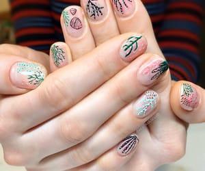 green, nails, and nature image